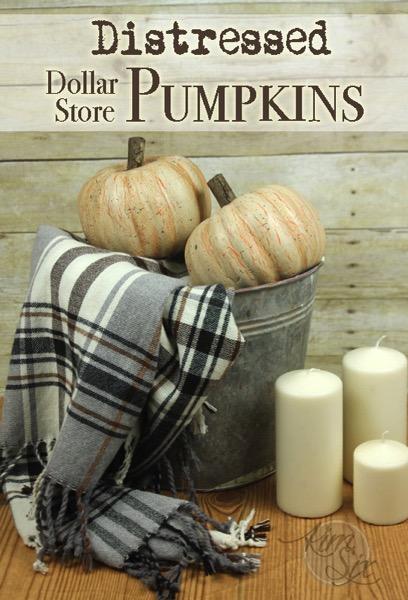DIY Fall Decor | Rustic Distressed Pumpkins