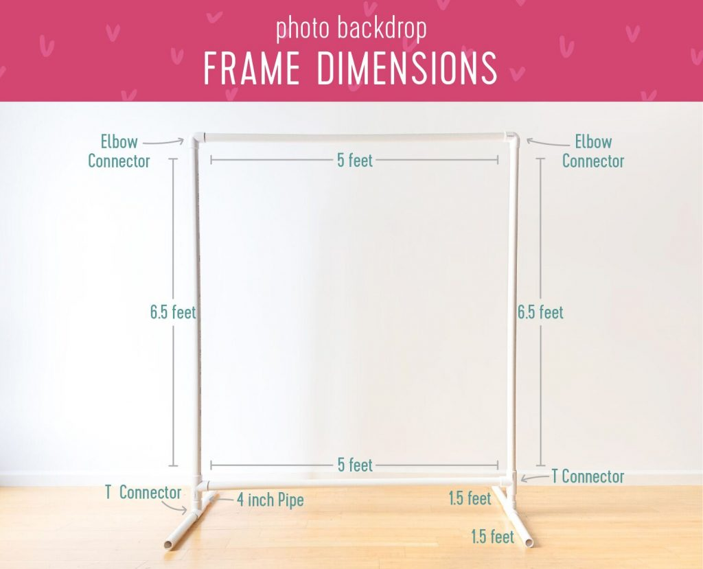 Photo Backdrop Frame Dimensions