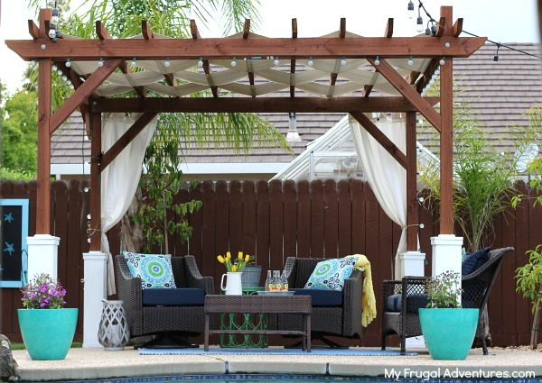 Pergola Overlooking Swimming Pool