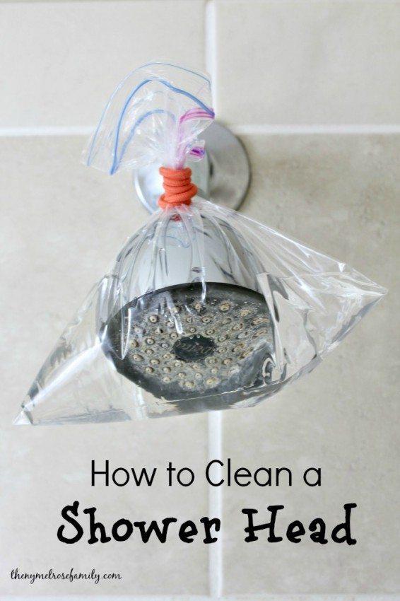 Deep Clean Your Bathroom | Shower Head Hack