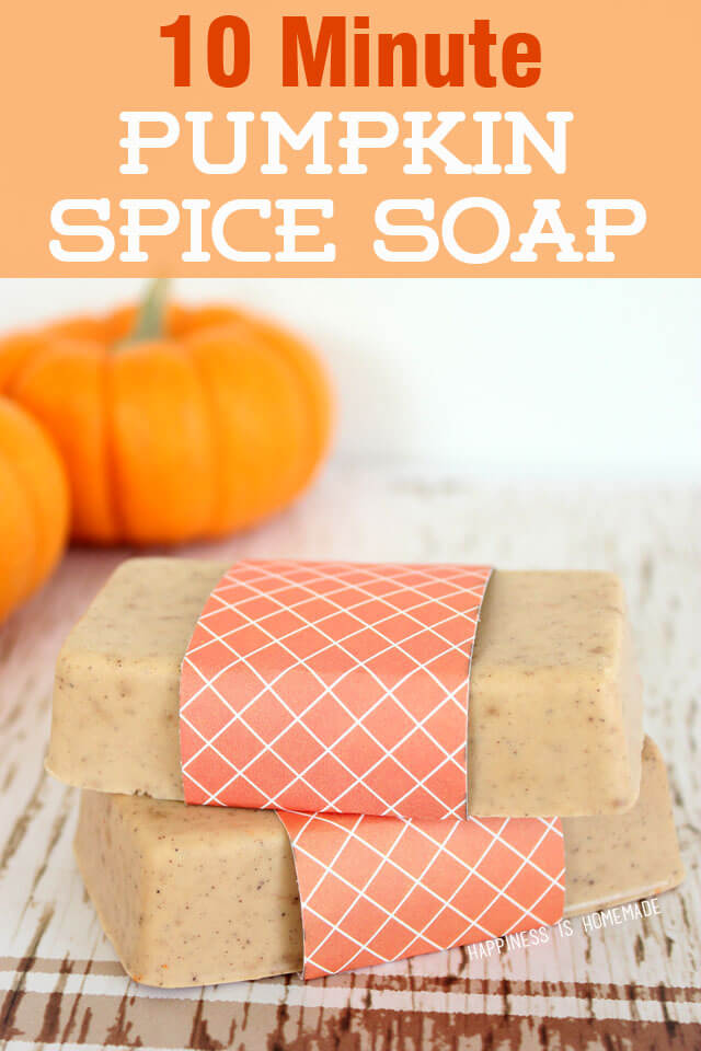 10 Minute Pumpkin Spice Soap DIY