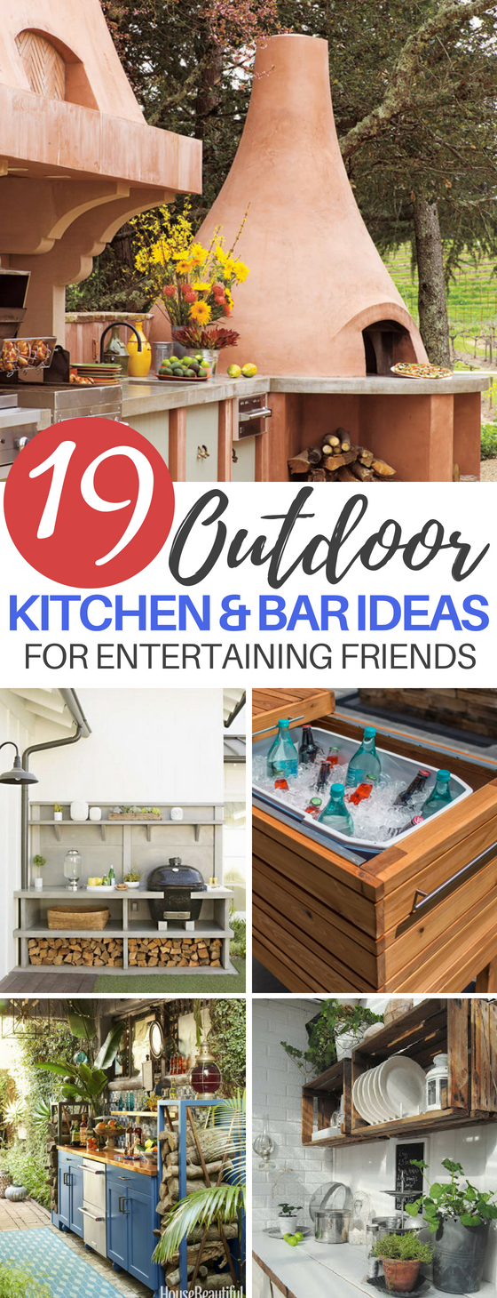 19 Outdoor Kitchen and Bar Ideas for The Perfect Backyard Entertainment Center
