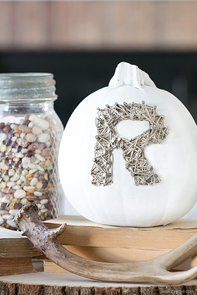 DIY Rustic Fall Decor | String Art Pumpkin