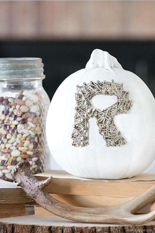 DIY Rustic Fall Decor | String Art Pumpkin
