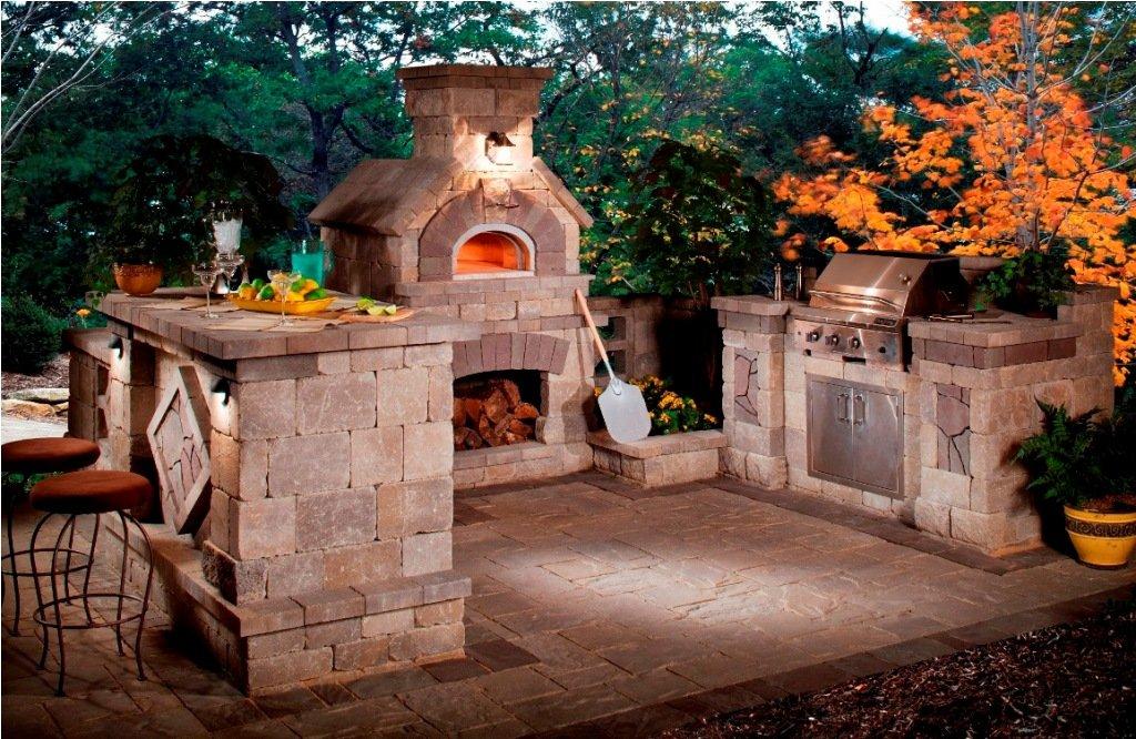 Retro Rustic Outdoor Kitchen