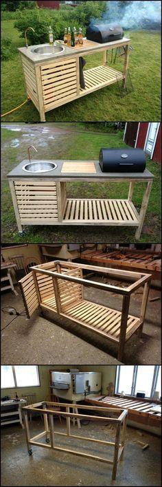 Simple Portable Outdoor Kitchen DIY