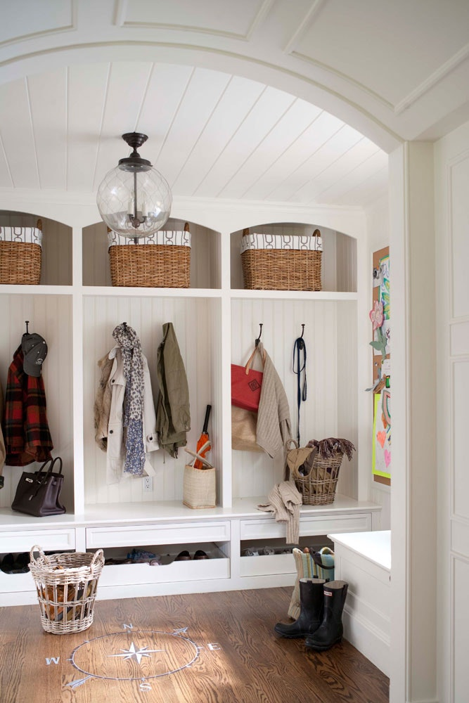Large Family Mudroom Entryway Idea