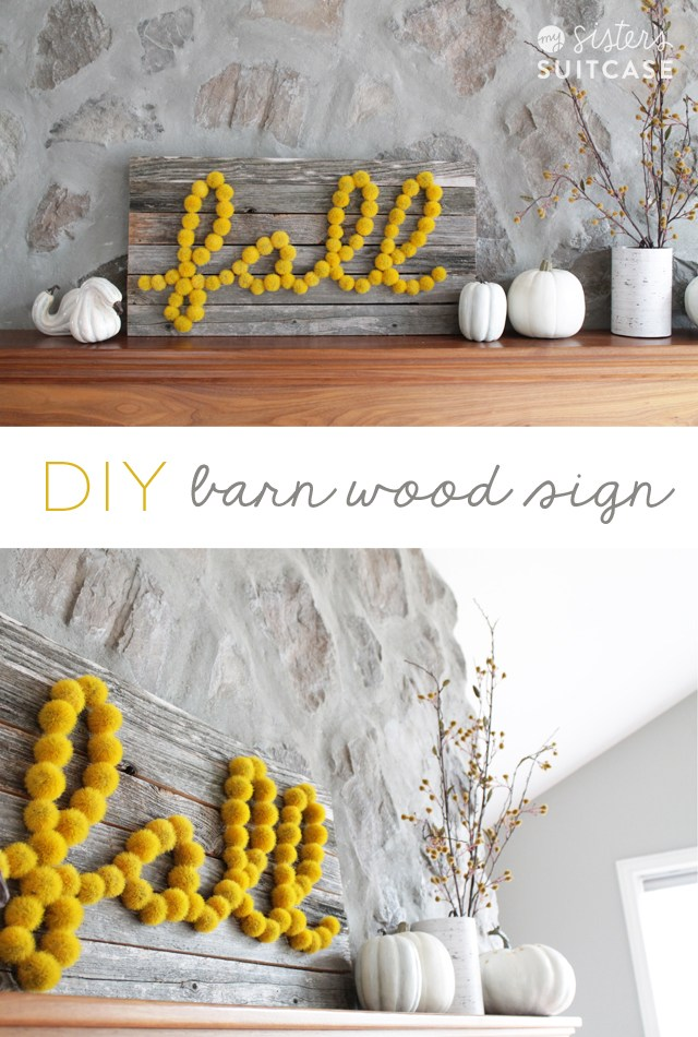 DIY Barn Wood Fall Sign | Rustic Decor for Autumn