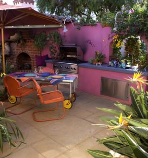 Eclectic Secret Garden Kitchen