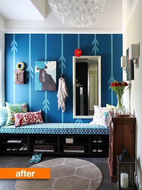 Blue Mudroom Entryway Idea