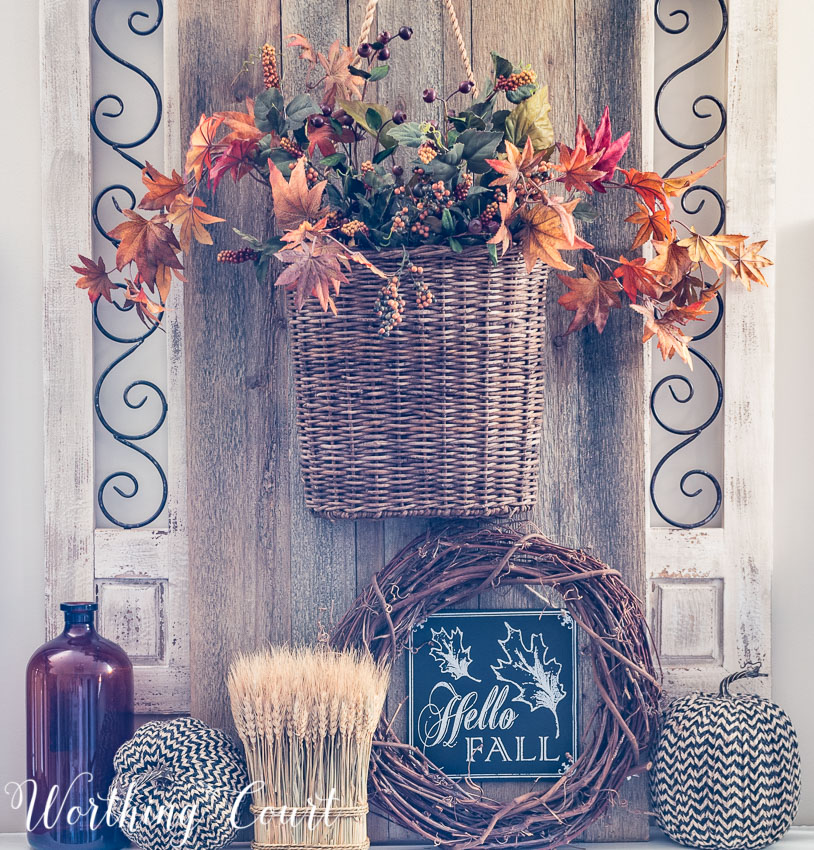 Rustic Fall Decor Mantel