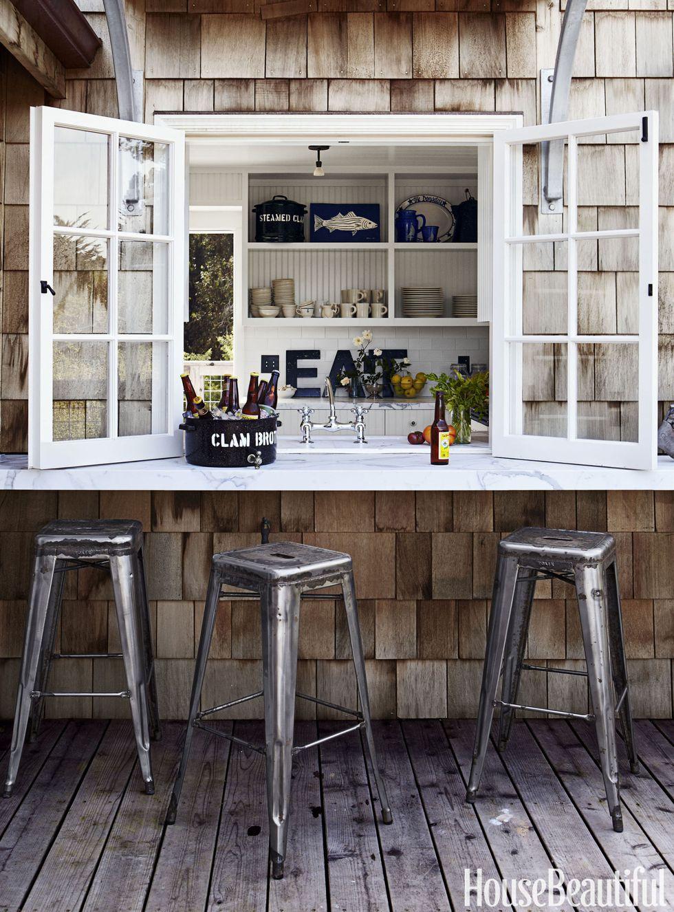 Budget Pop Open Outdoor Kitchen Idea