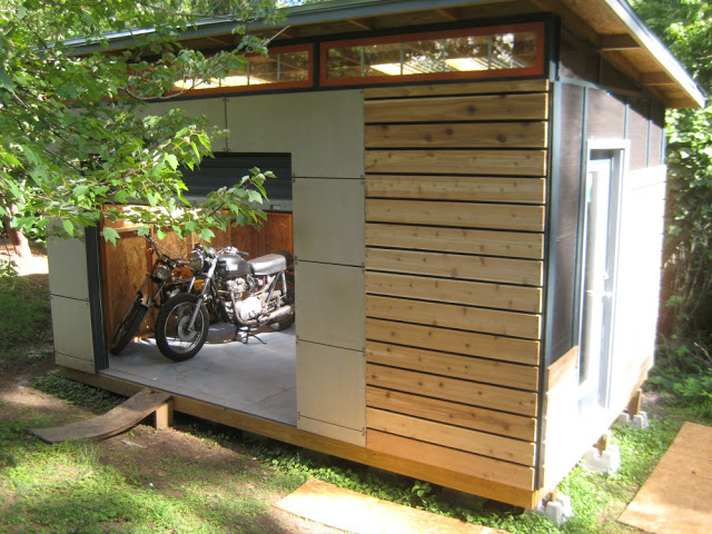 DIY Motorcycle Shed Idea