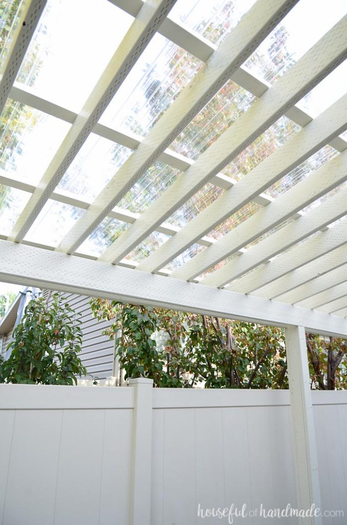 DIY Clear Pergola Roof
