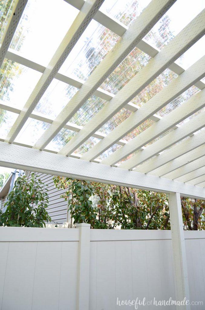 DIY Clear Pergola Roof