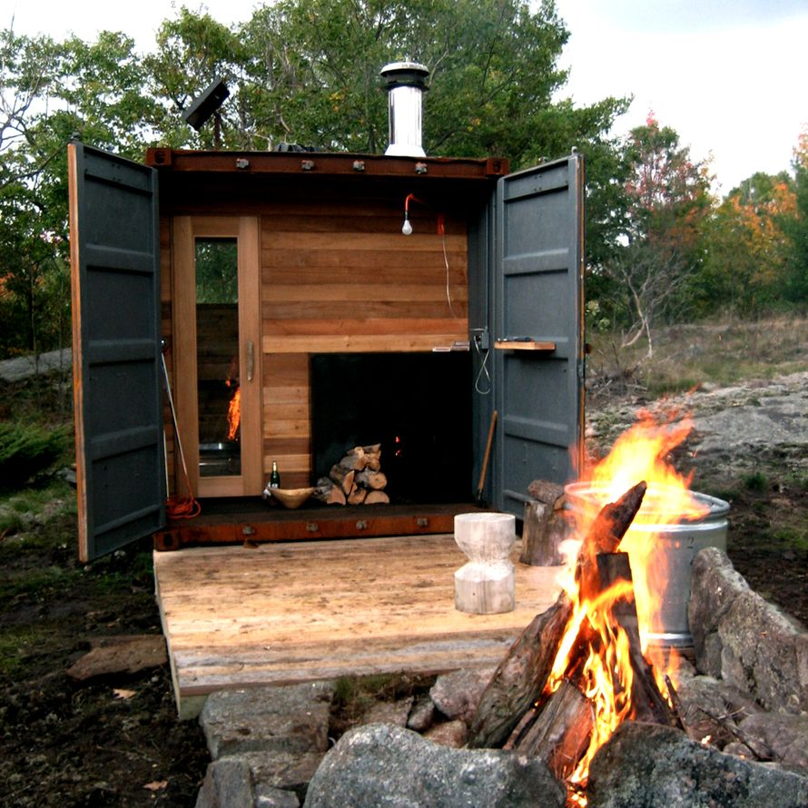 Backyard Shed Turned Into Sauna