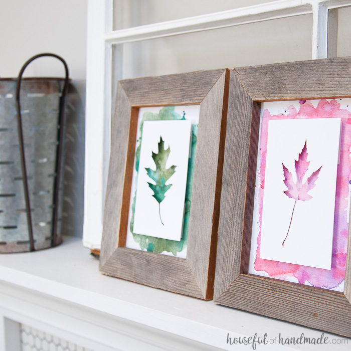 DIY Rustic Fall Decor | Leaf Art