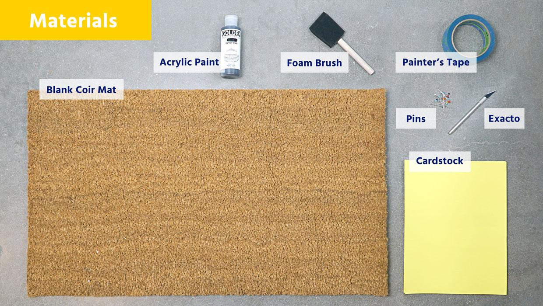 Material for Making DIY Doormat