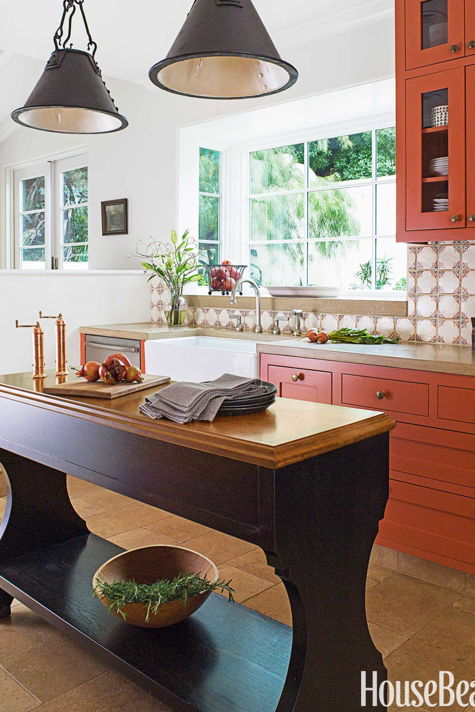 Burnt Orange Kitchen Cabinets