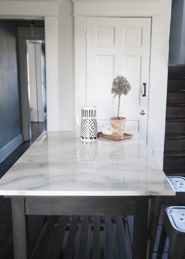 DIY Faux Marble Counters