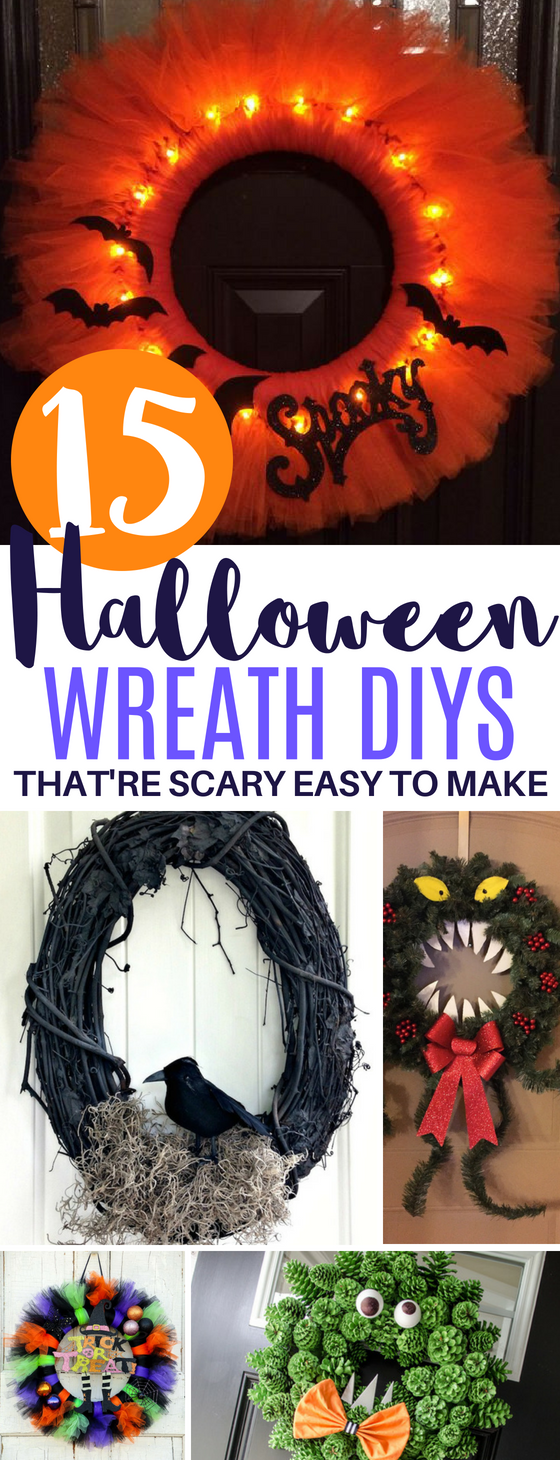 15 DIY Halloween Wreath Ideas That're Easy to Make