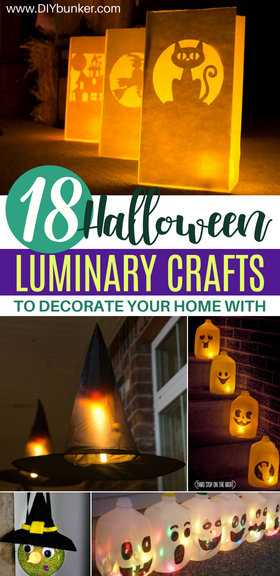 18 Halloween Luminary Crafts for Decorating Your Home