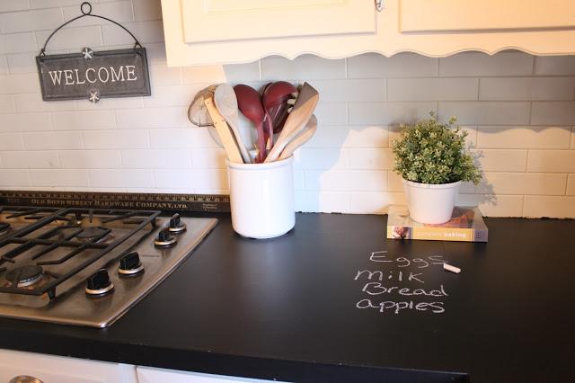 DIY Chalkboard Counter Tops