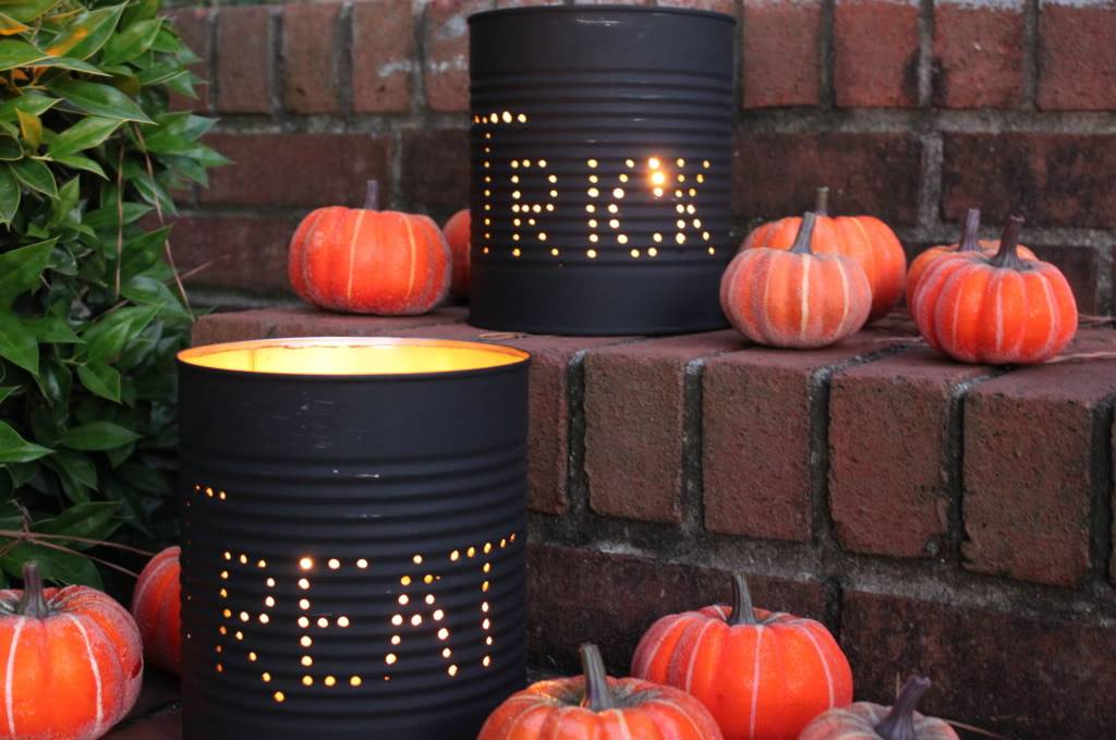 Tin Can Trick or Treat Luminary DIY