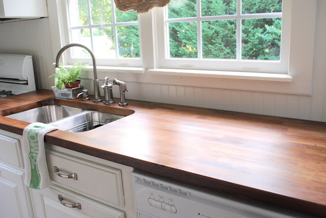 Warm Farmhouse Wood Counter Tops DIY