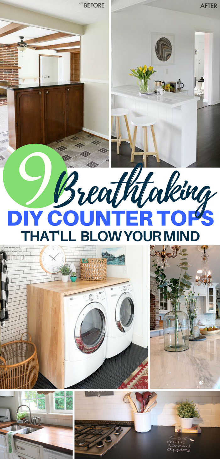 9 Breathtaking DIY Counter Tops That'll Blow Your Mind