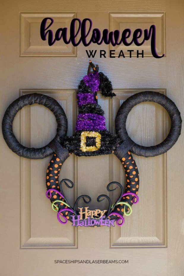Disney Mickey Mouse Halloween DIY Wreath