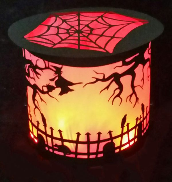 Flying Witch Luminary DIY for Halloween