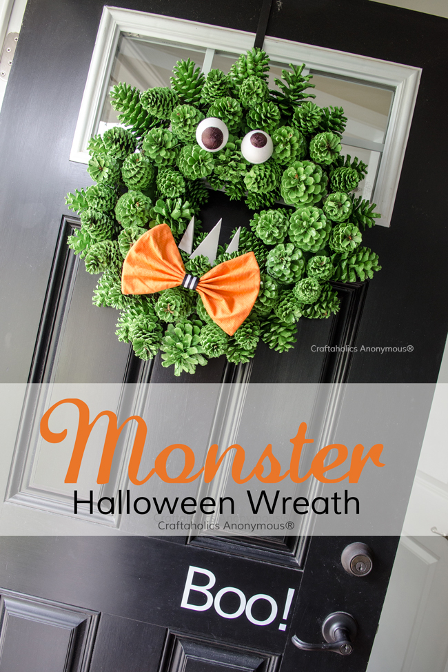 Halloween Monster Wreath DIY