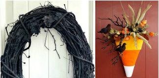 15 Halloween Wreath DIY Ideas
