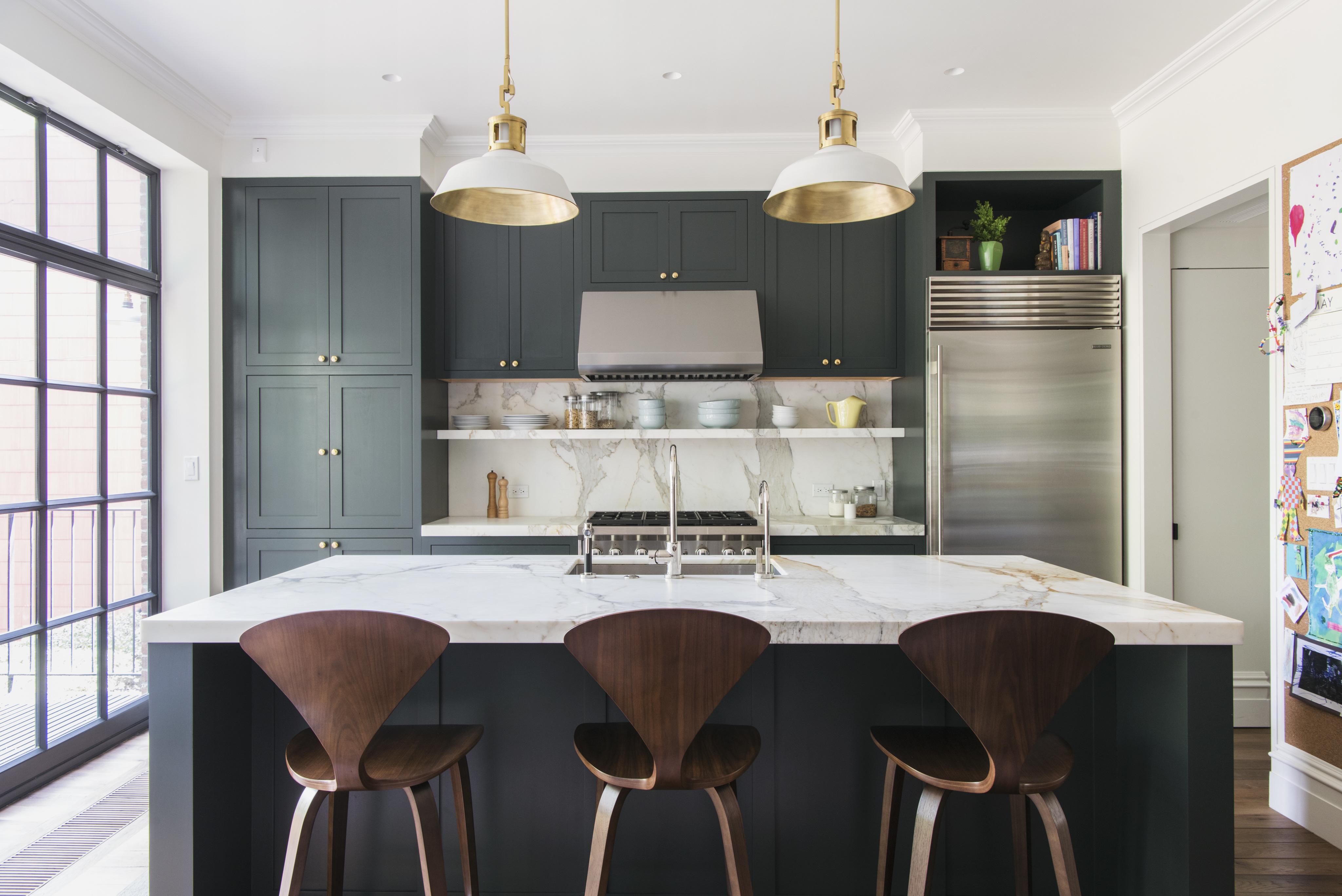 Dark Green Kitchen Cabinet Paint Idea