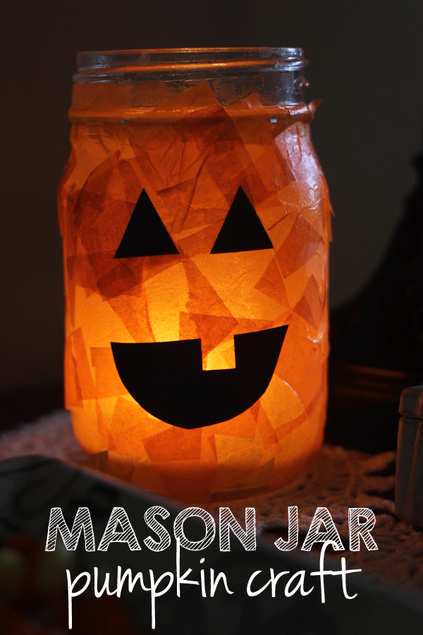 Pumpkin Mason Jar Luminary DIY