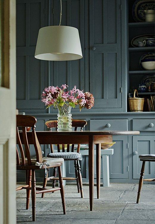 Newburg Green Kitchen Cabinets   Smoky Green Paint