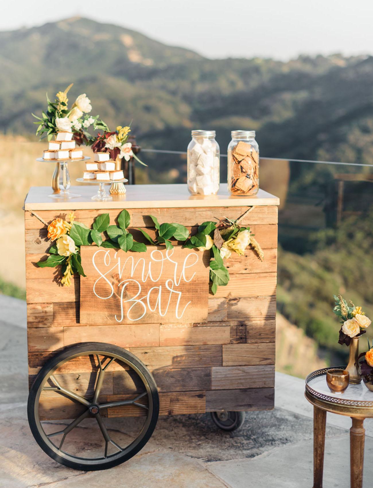 Smores Dessert Station for Fall Weddings