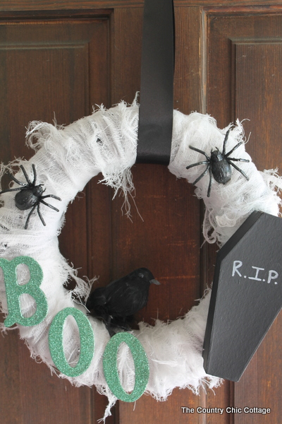 Scary Spider Web DIY Wreath
