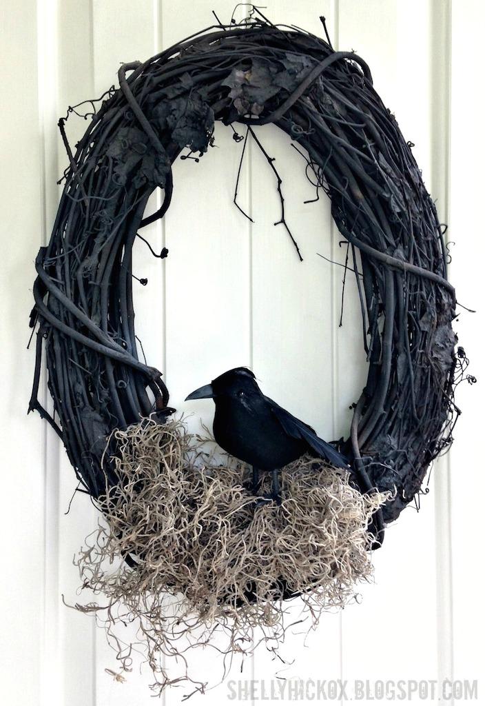 Williams Sonoma Knock Off Wreath Halloween DIY