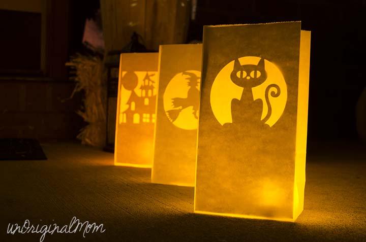 Paper Bag Luminary DIY for Halloween