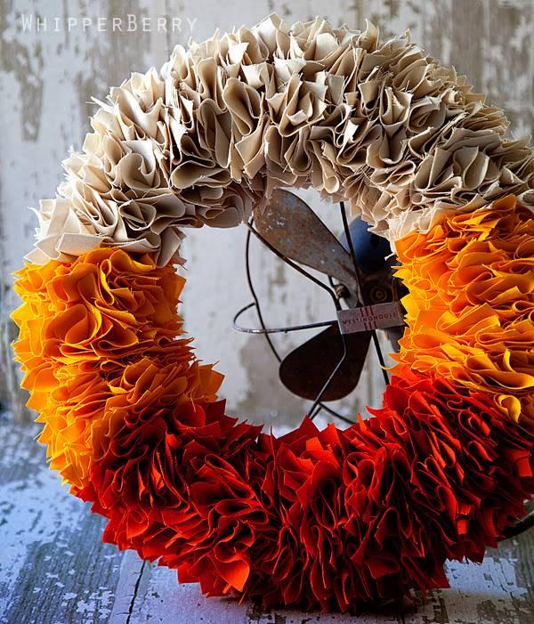 Candy Corn DIY Halloween Wreath
