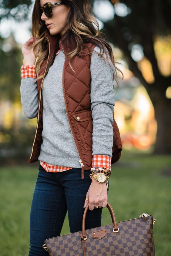 Burnt Copper Vest for Fall Fashion