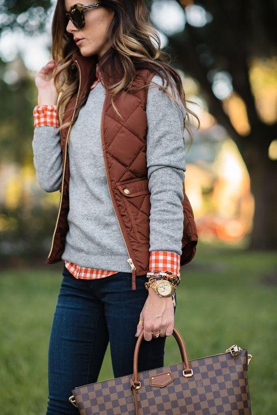 Burnt Copper Vest for Fall Fashion