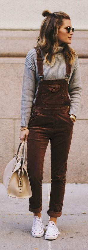Corduroy Overalls for Fall