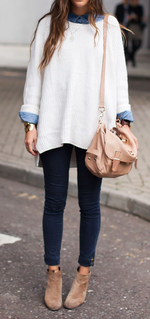 Cozy Collared Shirt Under Sweater for Fall