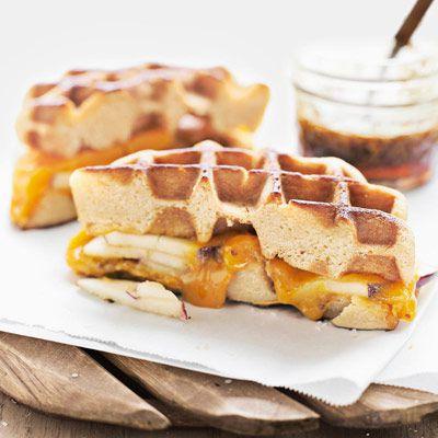 Apple Cheddar Waffle Panini
