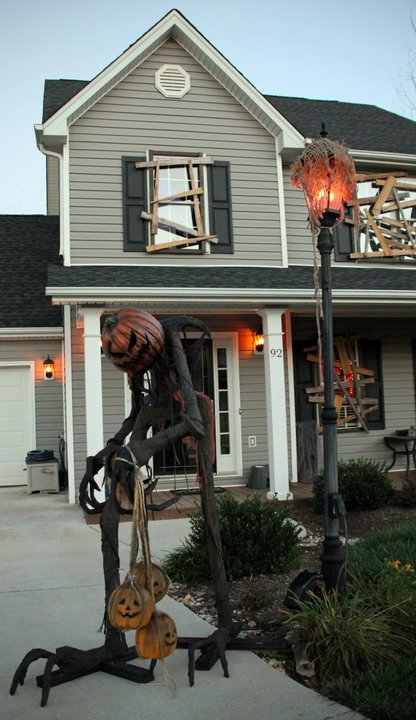 Scary Pumpkin Head Man DIY Halloween Decor