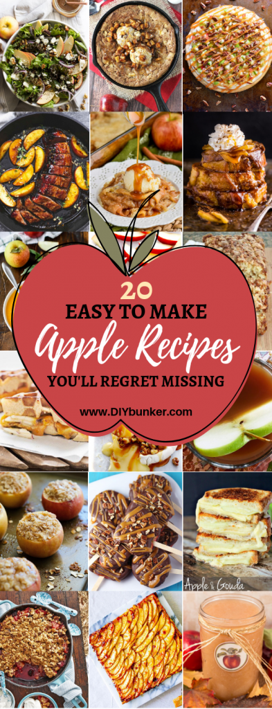 20 Delicious Apple Recipes to make this Fall