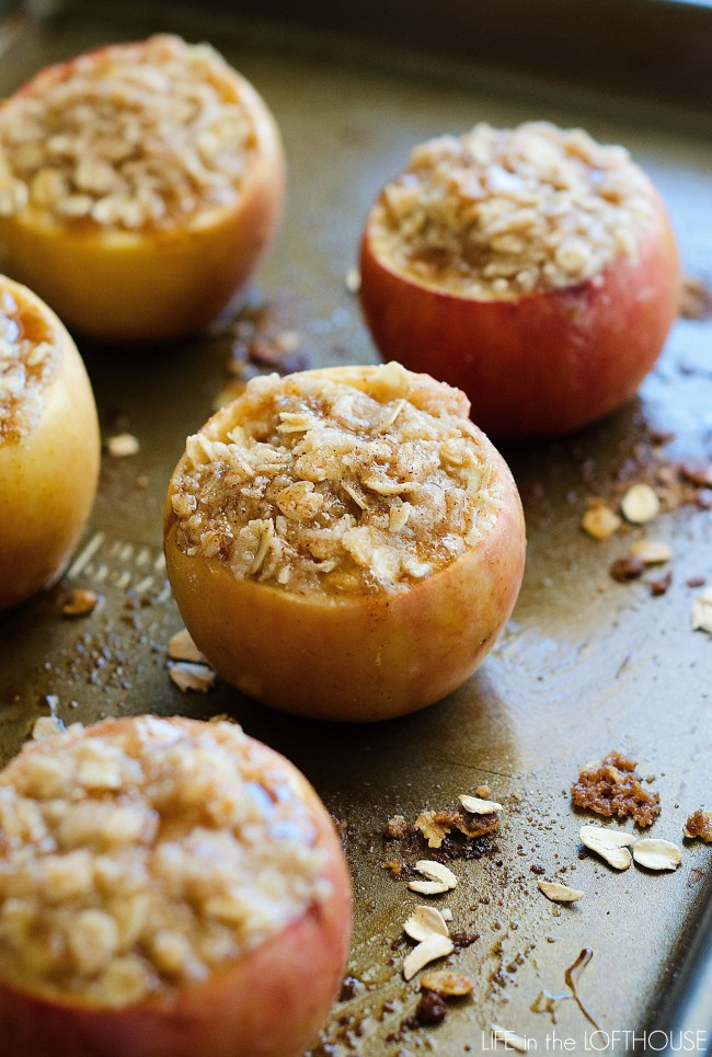 Stuffed Apple Crisp Baked Apples